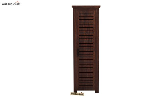Lynet 1 Door Multi Utility Wardrobe (Walnut Finish)-2