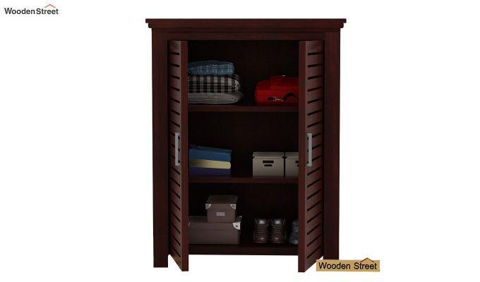 Lynet Small Size Wardrobe (Mahogany Finish)-3