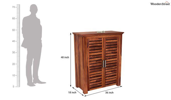 Lynet Small Size Wardrobe (Honey Finish)-5
