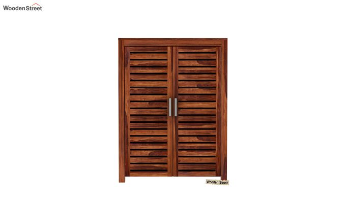 Lynet Small Size Wardrobe (Honey Finish)-3
