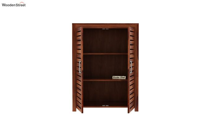Lynet Small Size Wardrobe (Honey Finish)-5