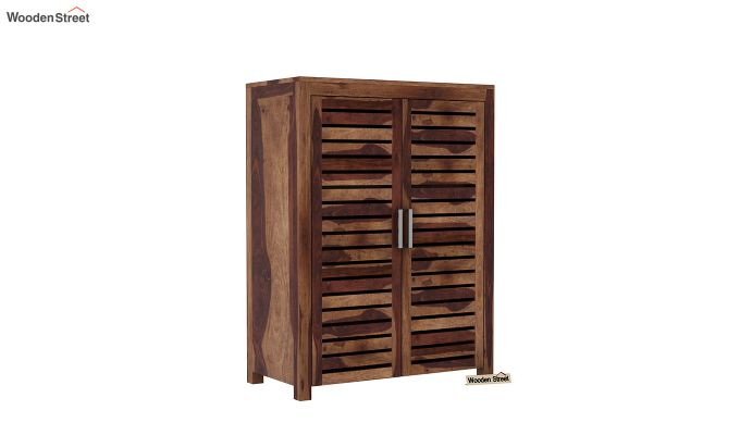 Lynet Small Size Wardrobe (Teak Finish)-2