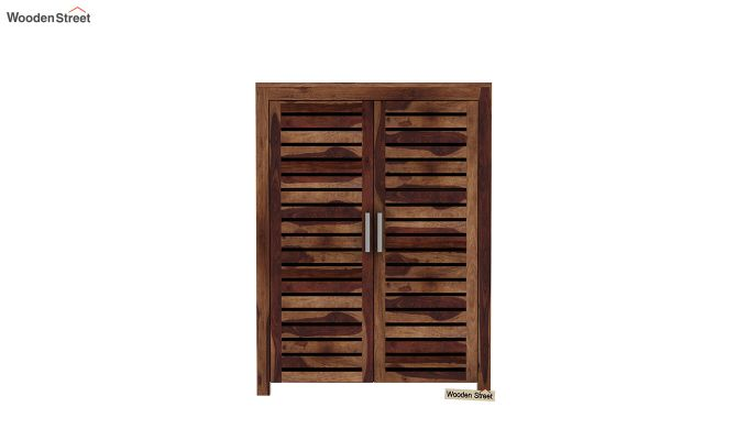 Lynet Small Size Wardrobe (Teak Finish)-3