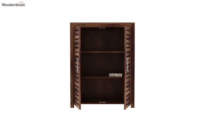 Lynet Small Size Wardrobe (Teak Finish)-5