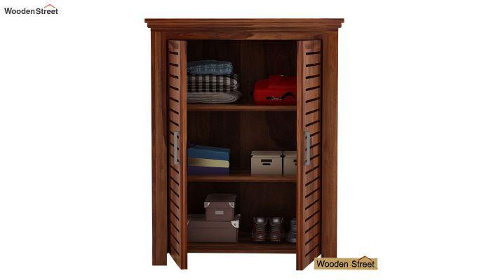 Lynet Small Size Wardrobe (Teak Finish)-3