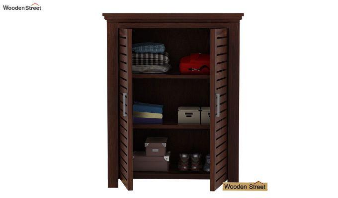 Lynet Small Size Wardrobe (Walnut Finish)-3