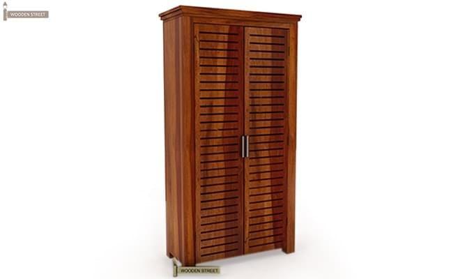 Lynet Multi Utility Wardrobe (Honey Finish)-2