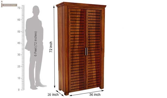 Lynet Multi Utility Wardrobe (Honey Finish)-7