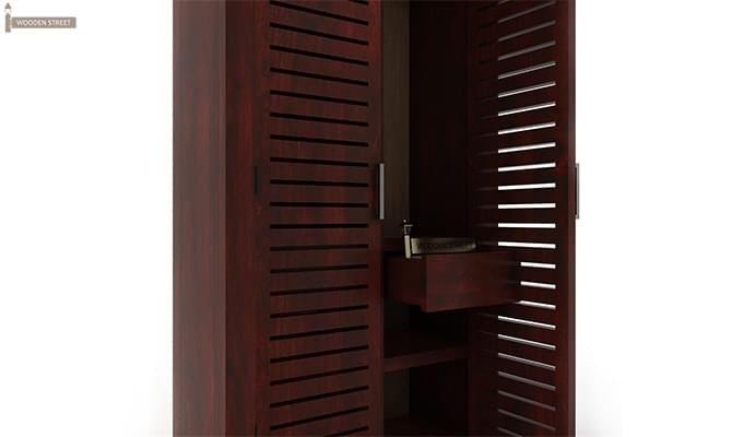 Lynet Multi Utility Wardrobe (Mahogany Finish)-4