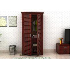 Lynet Multi Utility Wardrobe (Mahogany Finish)