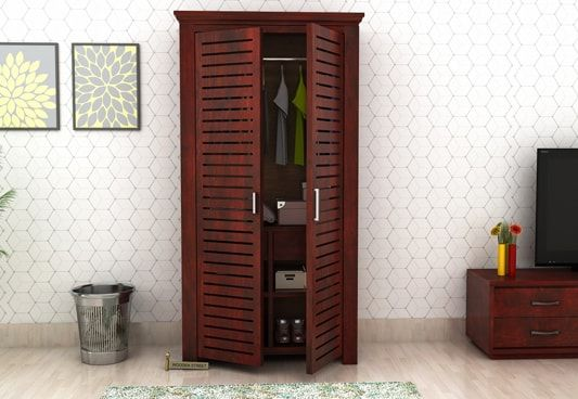buy 3 door wooden wardrobes online india