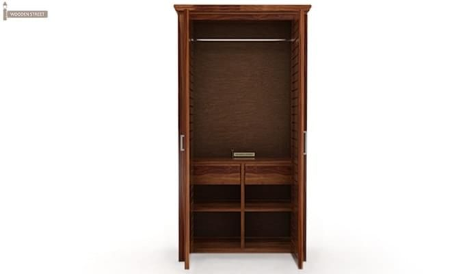 Lynet Multi Utility Wardrobe (Teak Finish)-1