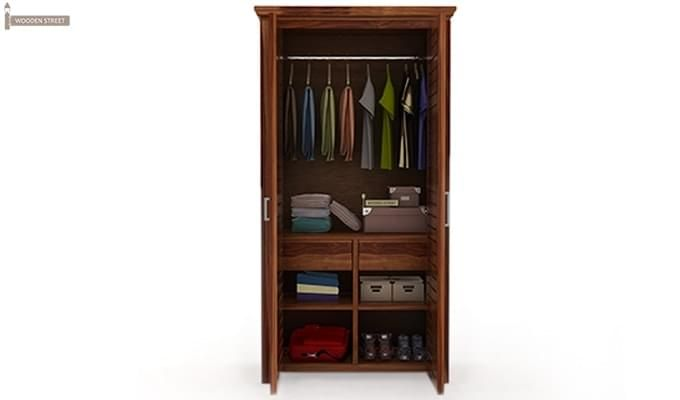 Lynet Multi Utility Wardrobe (Teak Finish)-2