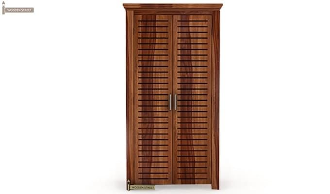 Lynet Multi Utility Wardrobe (Teak Finish)-3