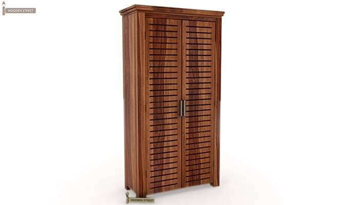Lynet Multi Utility Wardrobe (Teak Finish)-4