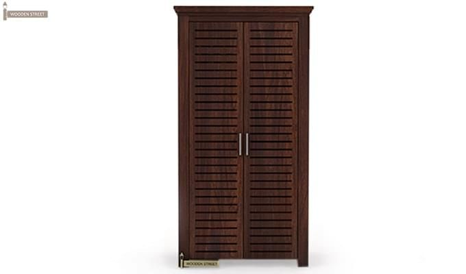 Lynet Multi Utility Wardrobe (Walnut Finish)-1