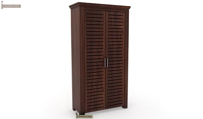 Lynet Multi Utility Wardrobe (Walnut Finish)-5