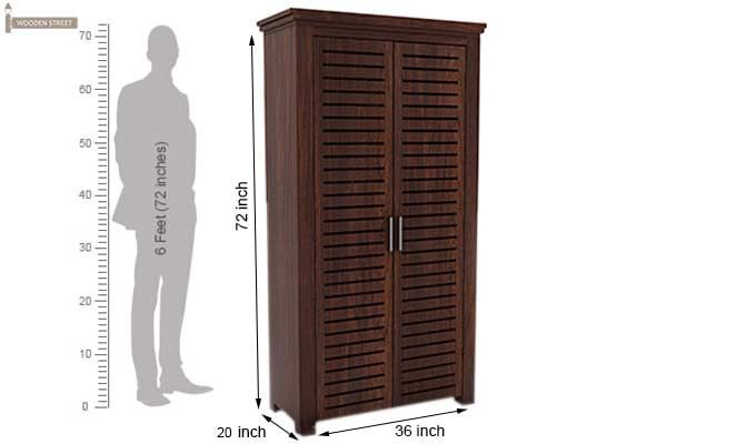 Lynet Multi Utility Wardrobe (Walnut Finish)-7