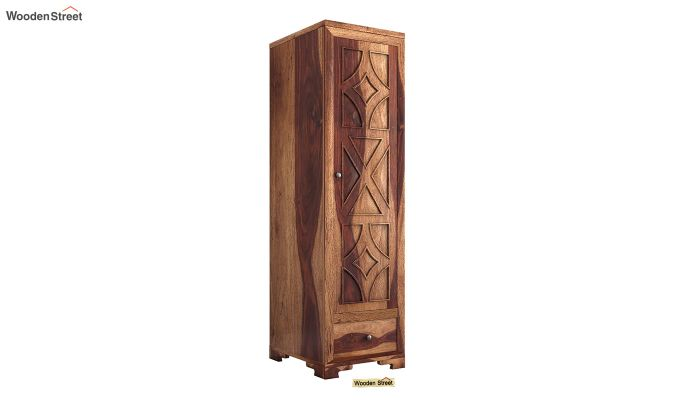 Martin 1 Door Multi Utility Wardrobe (Teak Finish)-2