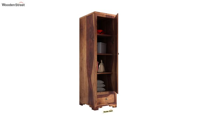 Martin 1 Door Multi Utility Wardrobe (Teak Finish)-4