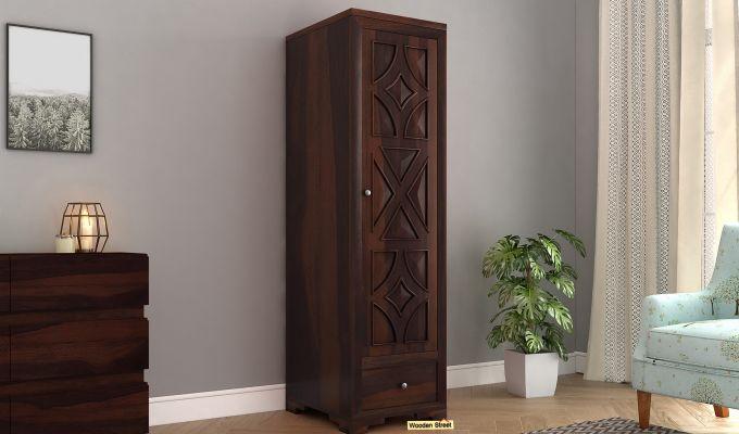 Martin 1 Door Multi Utility Wardrobe (Walnut Finish)-1