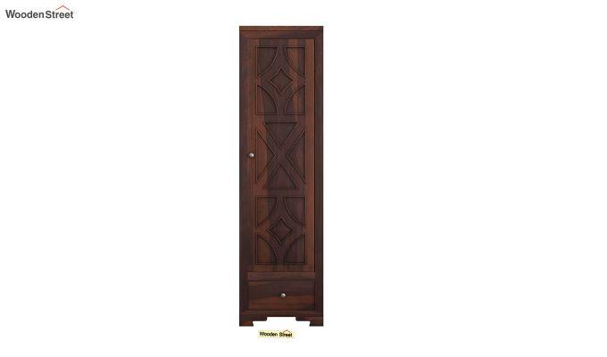 Martin 1 Door Multi Utility Wardrobe (Walnut Finish)-3