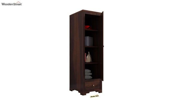 Martin 1 Door Multi Utility Wardrobe (Walnut Finish)-4