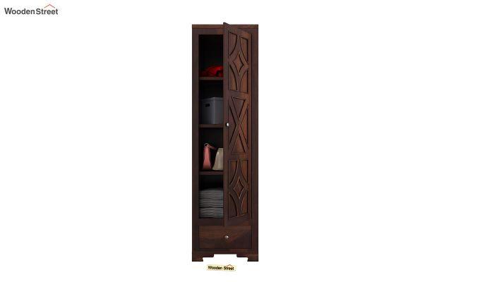 Martin 1 Door Multi Utility Wardrobe (Walnut Finish)-5