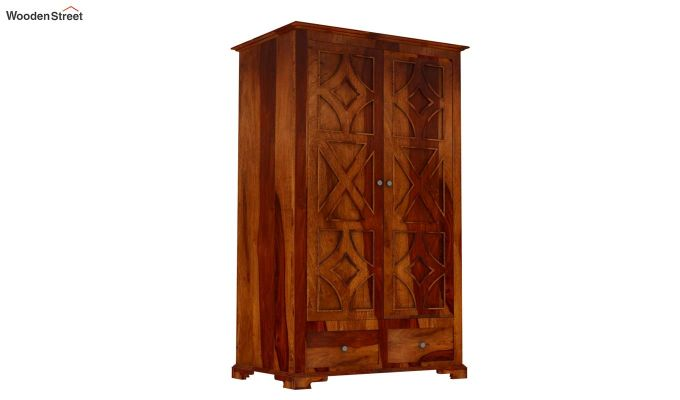 Martin Multi Utility Wardrobe (Honey Finish)-2