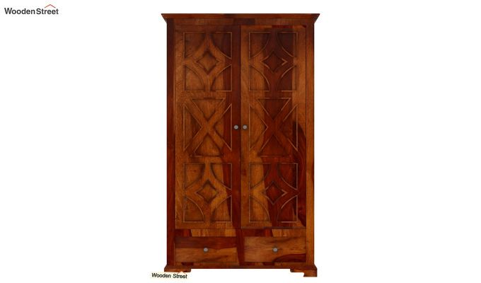 Martin Multi Utility Wardrobe (Honey Finish)-3