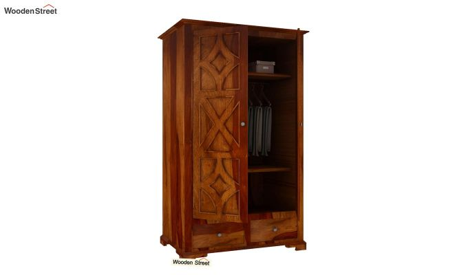 Martin Multi Utility Wardrobe (Honey Finish)-4