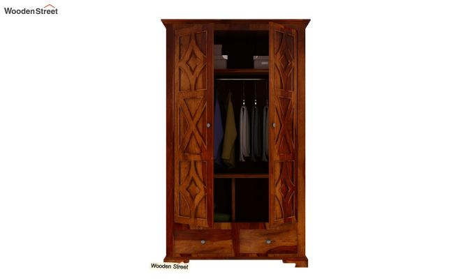Martin Multi Utility Wardrobe (Honey Finish)-5