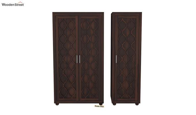 Montana 3 Door Multi Utility Wardrobe (Walnut Finish)-5