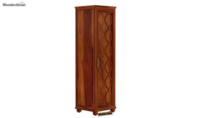 Montana 1 Door Multi-Utility Wardrobe (Honey Finish)-2