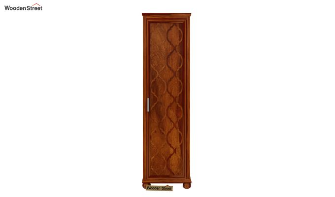 Montana 1 Door Multi-Utility Wardrobe (Honey Finish)-3