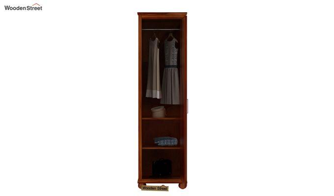 Montana 1 Door Multi-Utility Wardrobe (Honey Finish)-4