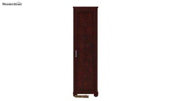 Montana 1 Door Multi-Utility Wardrobe (Mahogany Finish)-2