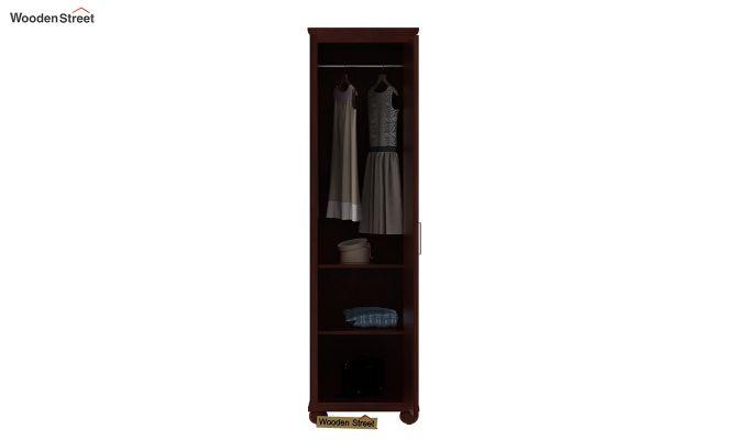 Montana 1 Door Multi-Utility Wardrobe (Mahogany Finish)-3