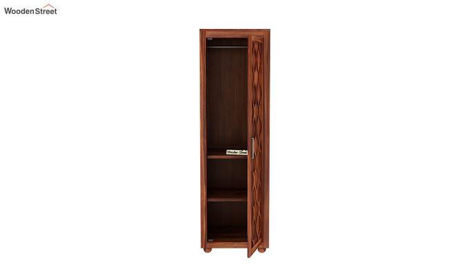 Montana 1 Door Multi-Utility Wardrobe (Honey Finish)-5