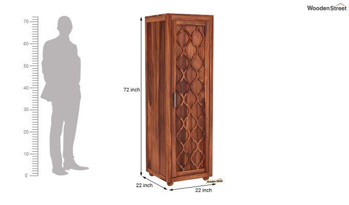 Montana 1 Door Multi-Utility Wardrobe (Honey Finish)-6