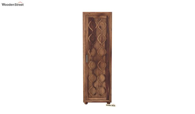 Montana 1 Door Multi-Utility Wardrobe (Teak Finish)-3
