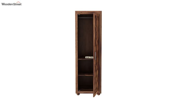 Montana 1 Door Multi-Utility Wardrobe (Teak Finish)-5