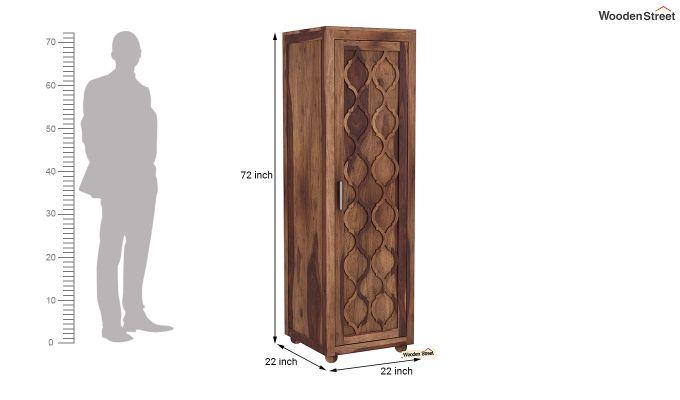 Montana 1 Door Multi-Utility Wardrobe (Teak Finish)-6