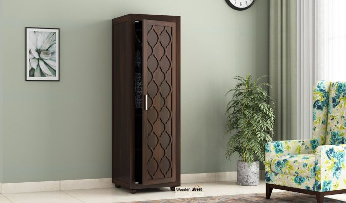 Montana 1 Door Multi-Utility Wardrobe (Walnut Finish)-1