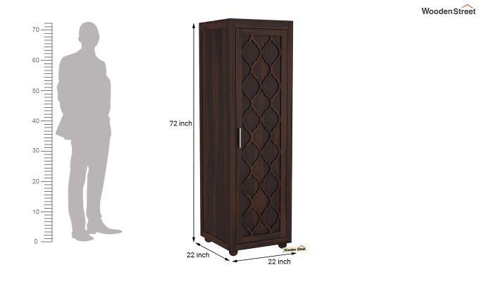 Montana 1 Door Multi-Utility Wardrobe (Walnut Finish)-6