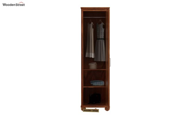 Montana 1 Door Multi-Utility Wardrobe (Teak Finish)-3