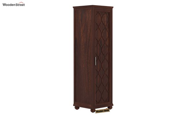 Montana 1 Door Multi-Utility Wardrobe (Walnut Finish)-1
