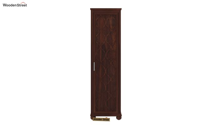 Montana 1 Door Multi-Utility Wardrobe (Walnut Finish)-2