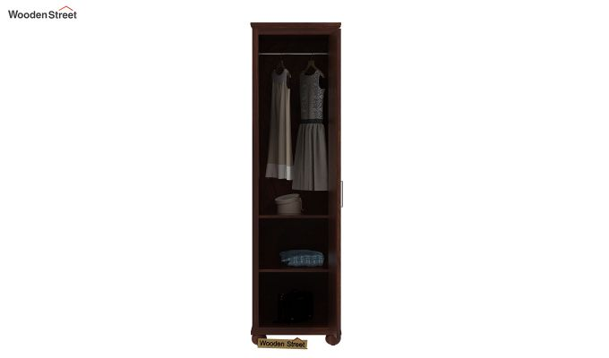 Montana 1 Door Multi-Utility Wardrobe (Walnut Finish)-3