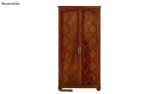 Montana 2 Door Multi-Utility Wardrobe (Honey Finish)-2